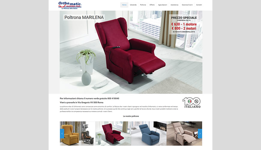 Sviluppo sito web per negozio poltrone for Web arredamento